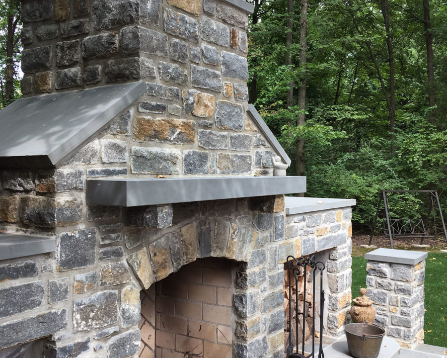 Outdoor Fireplace in Indian Hill