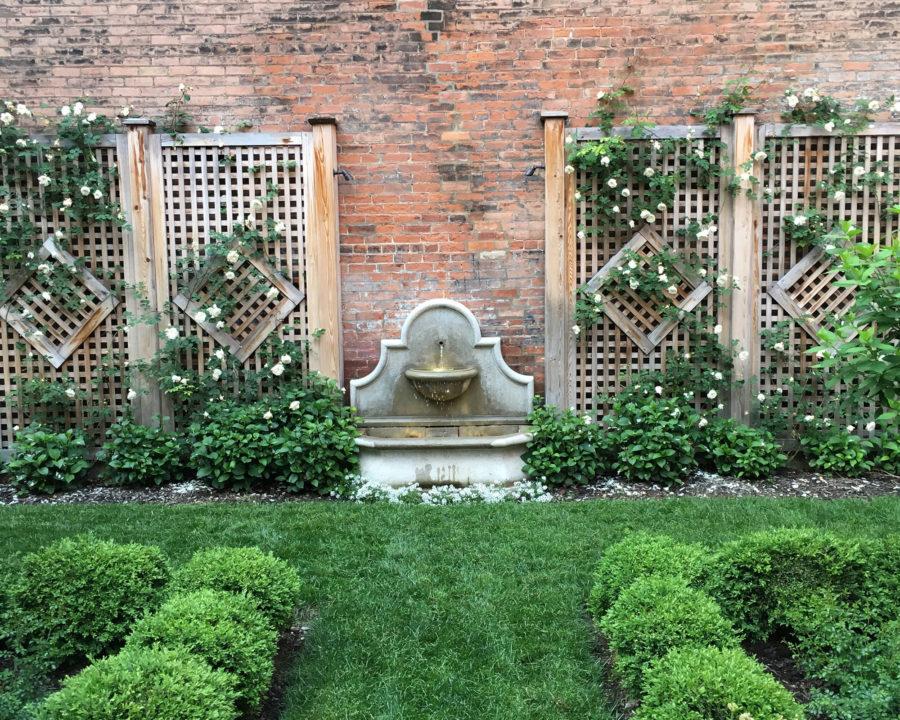 Courtyard garden in Over-the-Rhine